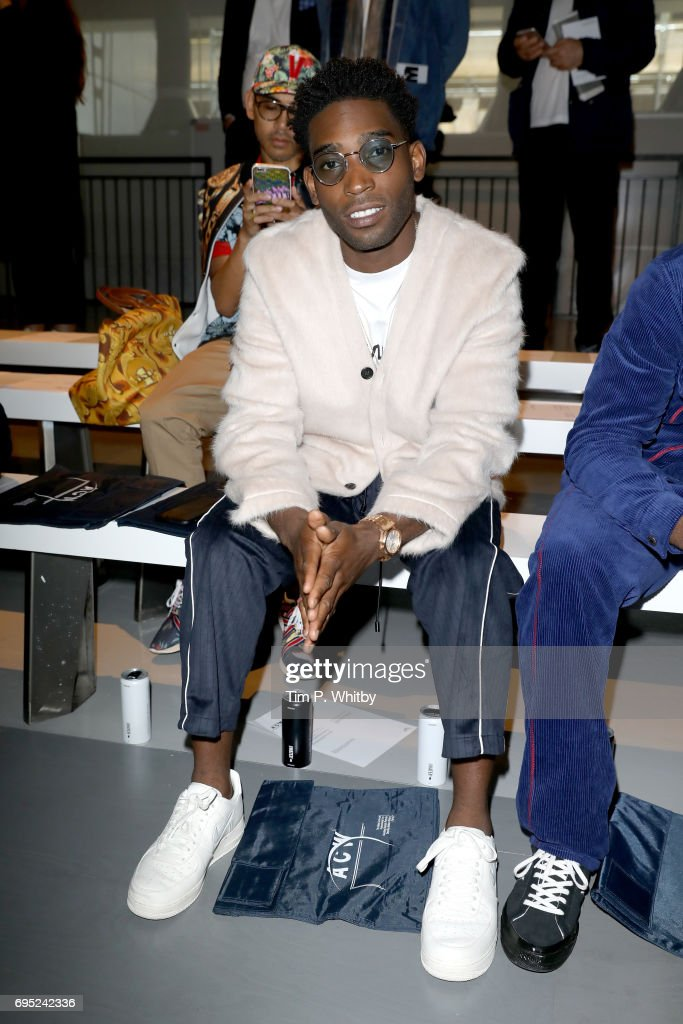 Singer Tinie Tempah attends the A Cold Wall* show during London Fashion Week Men's June 2017 collections on June 12, 2017 in London, England.