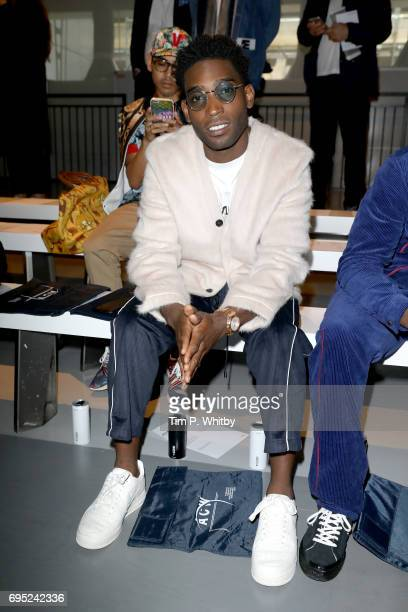 Singer Tinie Tempah attends the A Cold Wall* show during London Fashion Week Men's June 2017 collections on June 12 2017 in London England