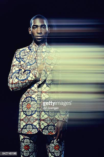 Singer Tinie Tempah is photographed for Elle magazine on July 29, 2012 in London, England.