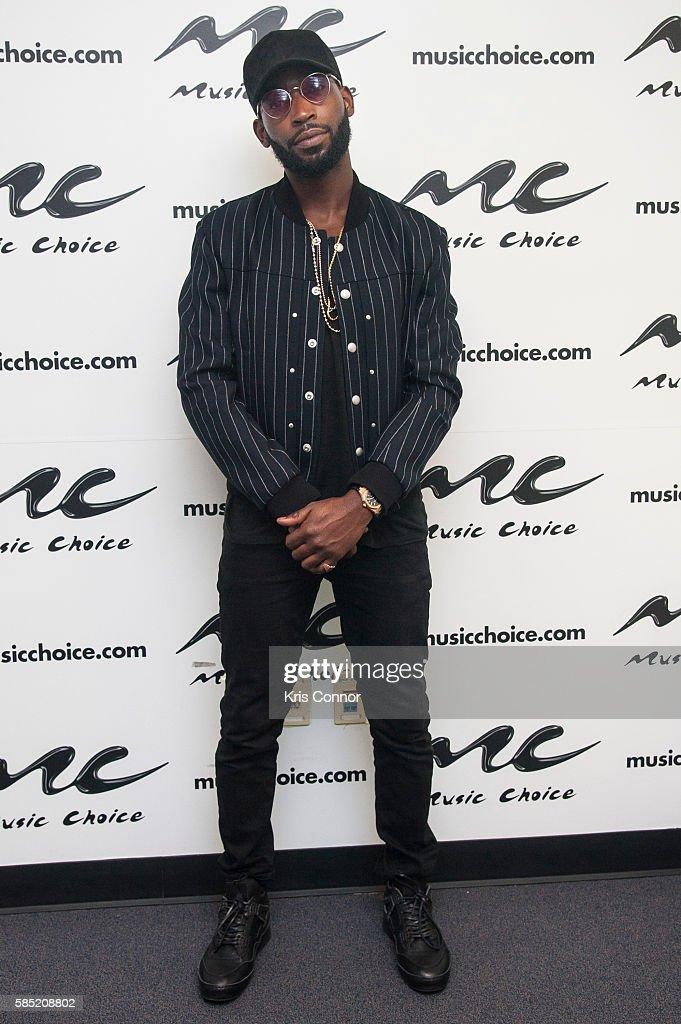 Tinie Tempah Visits Music Choice : News Photo