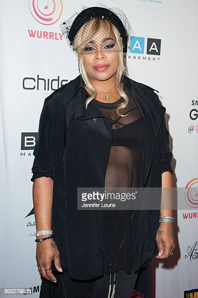 Singer Tionne TBoz Watkins arrives at TBoz Unplugged at The Avalon on December 6 2015 in Hollywood California