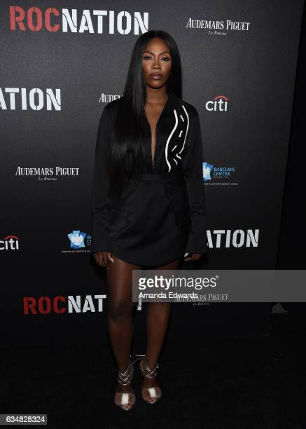 Singer Tiwa Savage arrives at Roc Nation's PreGRAMMY Brunch on February 11 2017 in Los Angeles California