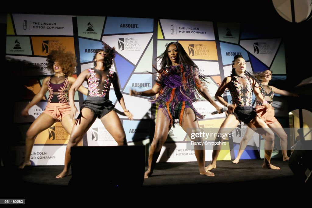 Singer Tiwa Savage performs onstage during 2017 Essence Black Women in Music at NeueHouse Hollywood on February 9, 2017 in Los Angeles, California.