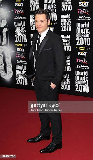 Singer Tiziano Ferro attends the World Music Awards 2010 at the Sporting Club on May 18 2010 in Monte Carlo Monaco