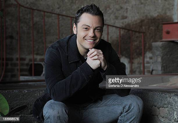 Singer Tiziano Ferro unveils new CD and tour 'L'Amore E' Una Cosa Semplice' on November 23 2011 at the Fonderia Napoleonica in Milan Italy