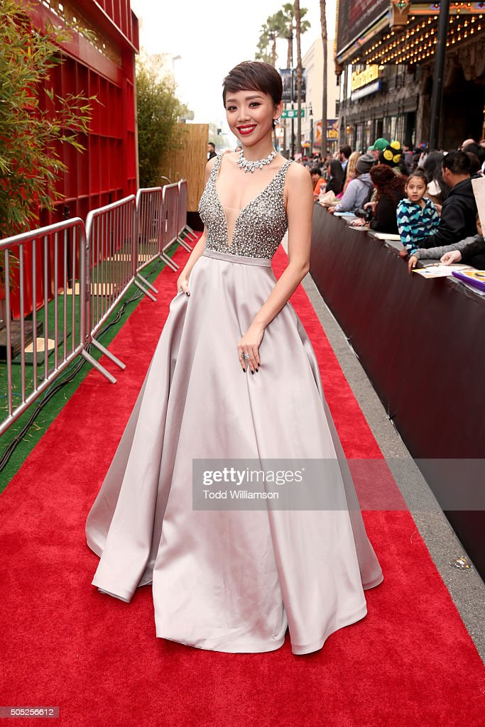 Singer Toc Tien attends the premiere of DreamWorks Animation and Twentieth Century Fox's 'Kung Fu Panda 3' at the TCL Chinese Theatre on January 16, 2016 in Hollywood, California.