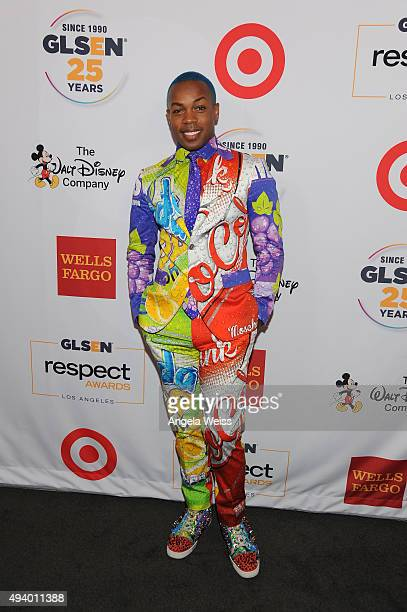 Singer Todrick Hall attends the 2015 GLSEN Respect Awards at the Beverly Wilshire Four Seasons Hotel on October 23 2015 in Beverly Hills California