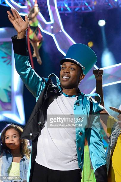 Singer Todrick Hall performs onstage during Nickelodeon's 27th Annual Kids' Choice Awards held at USC Galen Center on March 29 2014 in Los Angeles...