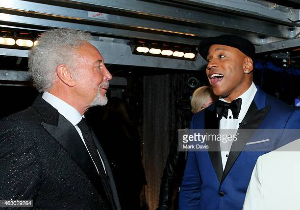 Singer Tom Jones and host LL Cool J attend The 57th Annual GRAMMY Awards at STAPLES Center on February 8 2015 in Los Angeles California