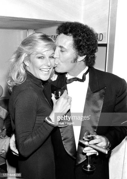Singer Tom Jones and Jilly Johnson at the Coconut Grove in London on June 2nd 1987