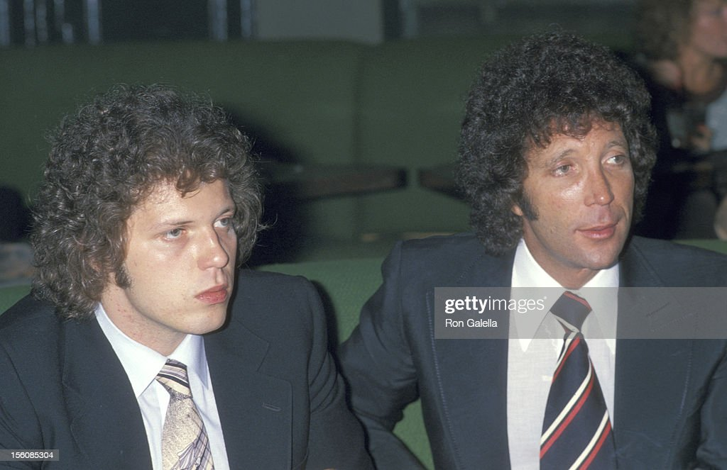 Singer Tom Jones and son Mark Woodward attend the 1978 Coty Awards