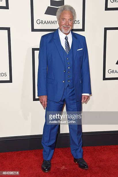 Singer Tom Jones arrives at the 57th Annual GRAMMY Awards at Staples Center on February 8 2015 in Los Angeles California