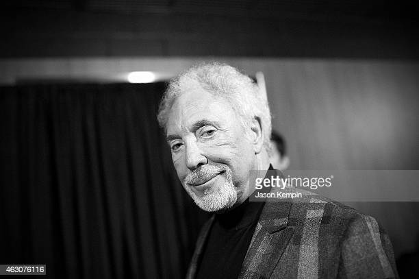 Singer Tom Jones attends the 57th Annual GRAMMY Awards Backstage at The Staples Center on February 8 2015 in Los Angeles California