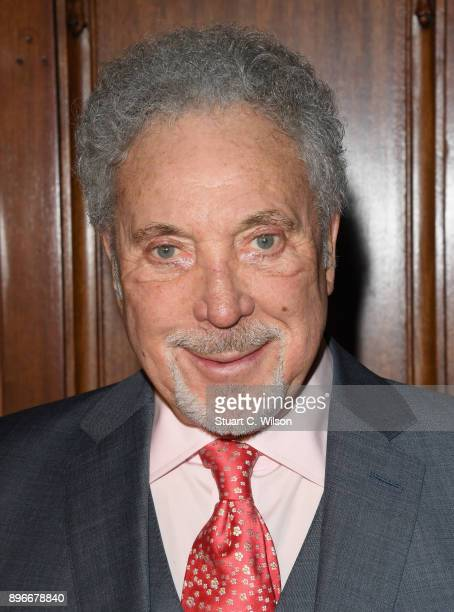 Singer Tom Jones attends the opening night of 'Hamilton' at Victoria Palace Theatre on December 21, 2017 in London, England.