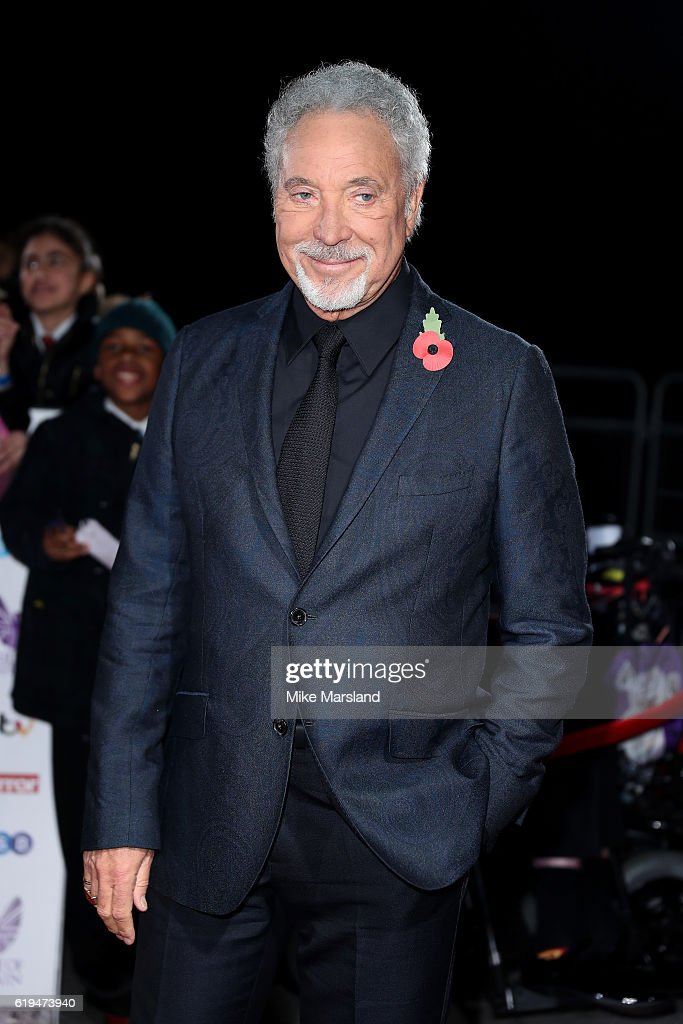 Singer Tom Jones attends the Pride Of Britain Awards at The Grosvenor House Hotel on October 31, 2016 in London, England.