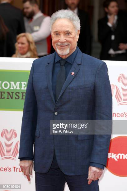 Singer Tom Jones attends 'The Prince's Trust' and TKMaxx with Homesense Awards at London Palladium on March 6, 2018 in London, England.