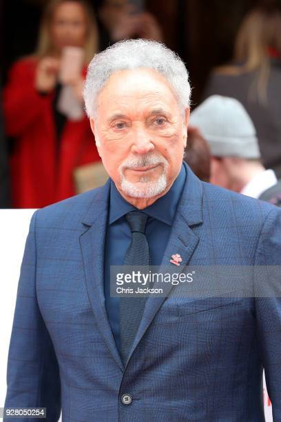 Singer Tom Jones attends 'The Prince's Trust' and TKMaxx with Homesense Awards at London Palladium on March 6 2018 in London England