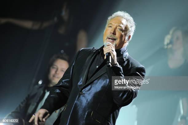 Singer Tom Jones performs at Arcimboldi's theatre on November 2 2009 in Milan Italy