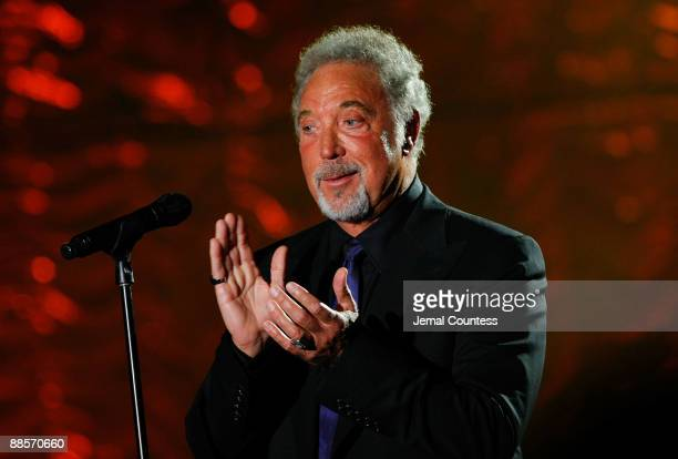 Singer Tom Jones performs on stage during the 40th Annual Songwriters Hall of Fame Ceremony at The New York Marriott Marquis on June 18 2009 in New...