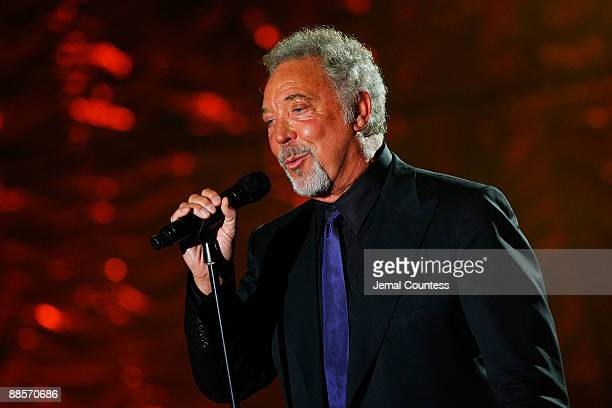 Singer Tom Jones performs on stage during the 40th Annual Songwriters Hall of Fame Ceremony at The New York Marriott Marquis on June 18, 2009 in New...