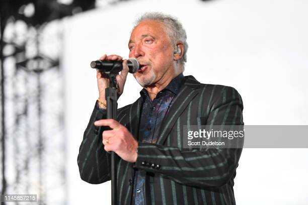 Singer Tom Jones performs onstage during Day 3 of the Stagecoach Music Festival on April 28, 2019 in Indio, California.