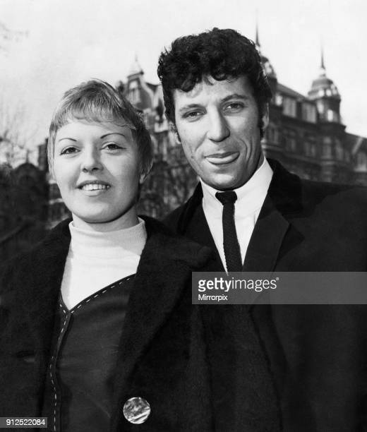 Singer Tom Jones pictured with his wife Linda who went for a stroll around Hanover Square, London, looking at the shops. Jones had just hit the top...