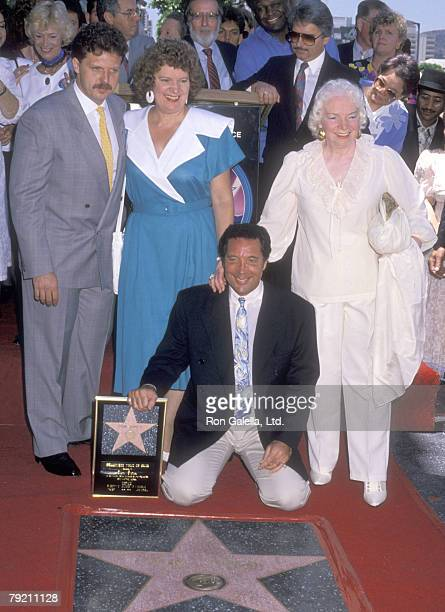 Singer Tom Jones son Mark Woodward sister Sheila Woodward and mother Freda Woodward attend the Hollywood Walk of Fame Ceremony Honoring Tom Jones on...