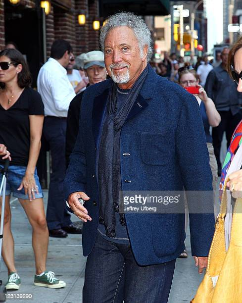 Singer Tom Jones visits Late Show With David Letterman at the Ed Sullivan Theater on September 22 2010 in New York City