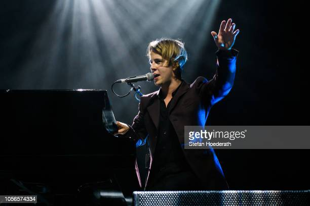 Singer Tom Odell performs live on stage during a concert at Columbiahalle on November 2 2018 in Berlin Germany