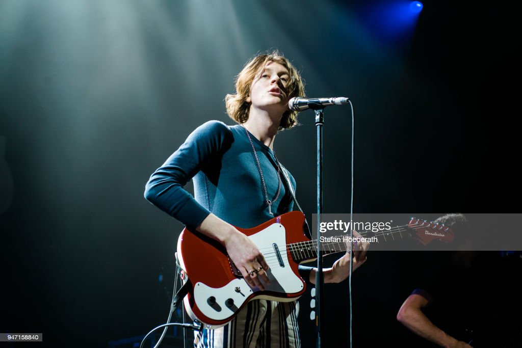 Singer Tom Ogden of Blossoms performs live on stage during a concert as support for Noel Gallagher's High Flying Birds at Max-Schmeling Hall on April 16, 2018 in Berlin, Germany.