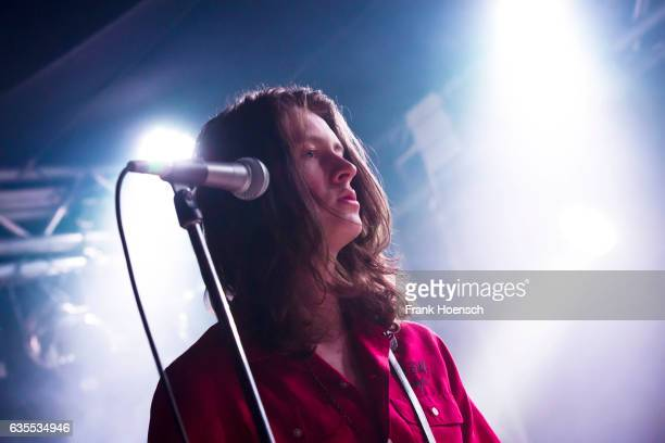 Singer Tom Ogden of the British band Blossoms performs live during a concert at the Frannz on February 15 2017 in Berlin Germany