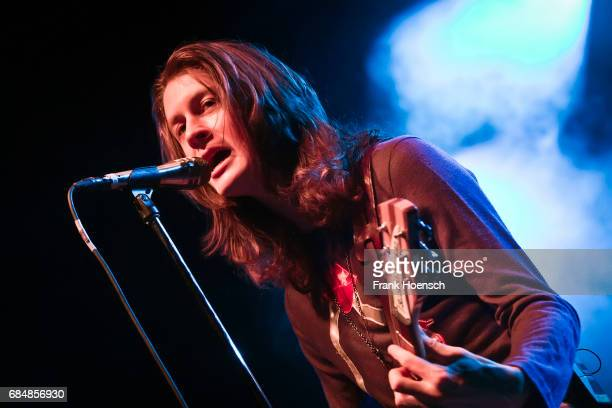 Singer Tom Ogden of the British band Blossoms performs live on stage in support of The Kooks during a concert at the Columbiahalle on May 18 2017 in...