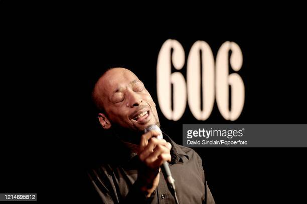 Singer Tommy Blaize performs live on stage at the 606 Club in Chelsea London on 13th October 2008