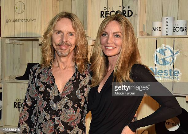 Singer Tommy Shaw of Styx and Jeanne Mason attend Off The Record Fashion Show held at a Private Residence on November 1, 2015 in Nashville, Tennessee.