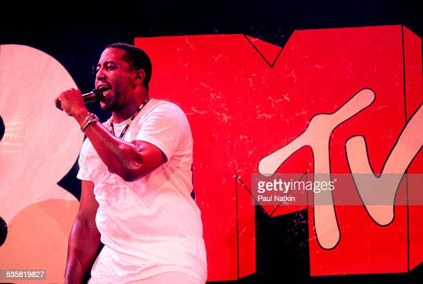 Singer Tone Loc performs on MTV's show 'Club MTV' Chicago Illinois July 8 1989