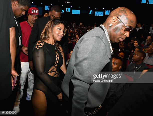 Singer Toni Braxton and rapper Birdman attend the 2016 BET Awards at the Microsoft Theater on June 26 2016 in Los Angeles California