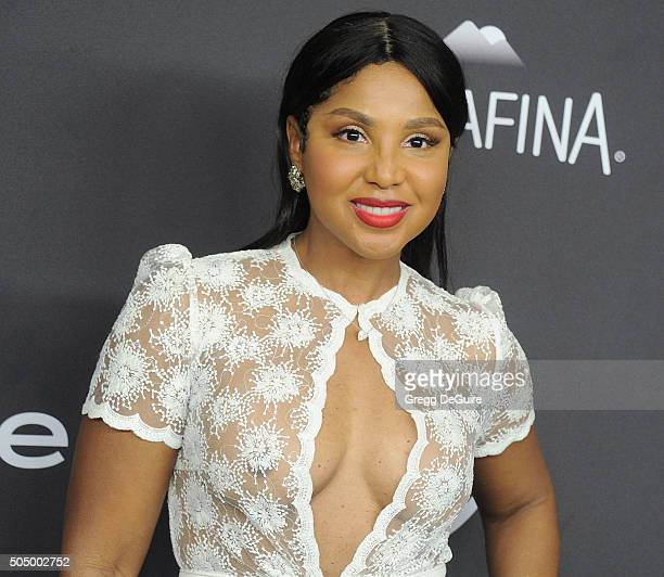 Singer Toni Braxton arrives at the 2016 InStyle And Warner Bros 73rd Annual Golden Globe Awards PostParty at The Beverly Hilton Hotel on January 10...