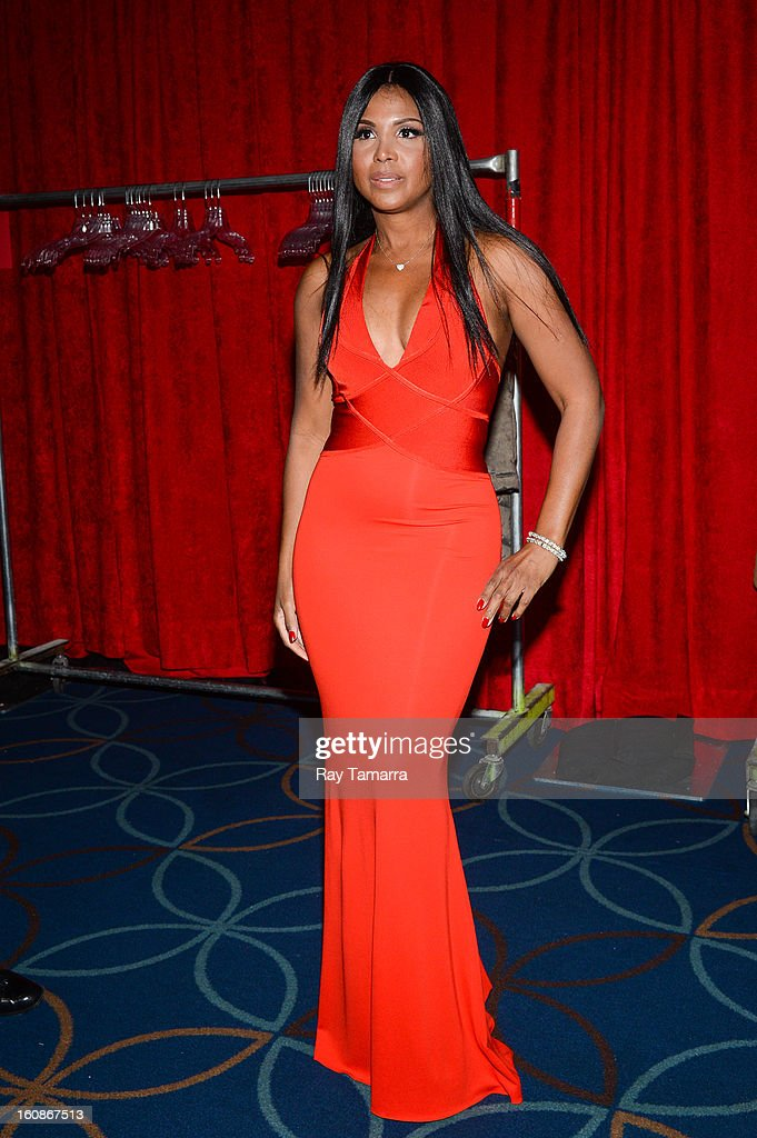 Singer Toni Braxton attends The Heart Truth's Red Dress Collection Fall 2013 Mercedes-Benz Fashion Show at 499 Seventh Avenue on February 6, 2013 in New York City.