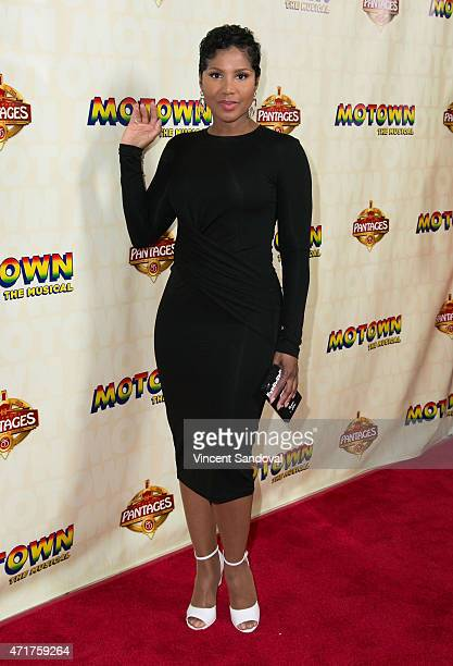 Singer Toni Braxton attends the Los Angeles opening night of Mowtown The Musical at the Pantages Theatre on April 30 2015 in Hollywood California