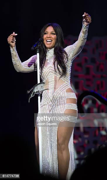 Singer Toni Braxton performs at Sprint Center on October 14 2016 in Kansas City Missouri