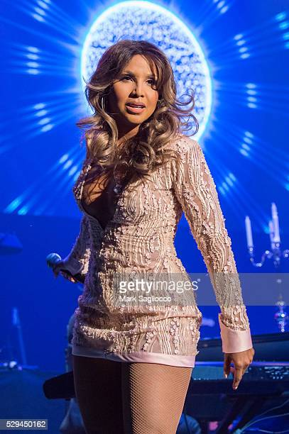 Singer Toni Braxton performs at the Artist Spotlight: Toni Braxton With Andra Day at the Kings Theatre on May 8, 2016 in the Brooklyn borough of New...