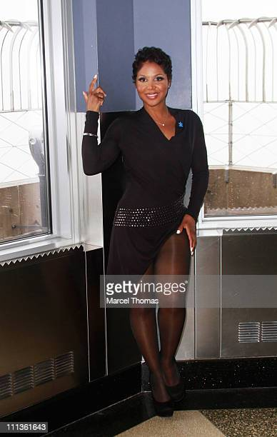 Singer Toni Braxton visits The Empire State Building on April 1 2011 in New York City