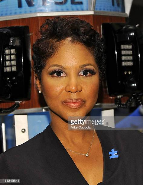 Singer Toni Braxton visits the New York Stock Exchange on April 1 2011 in New York City