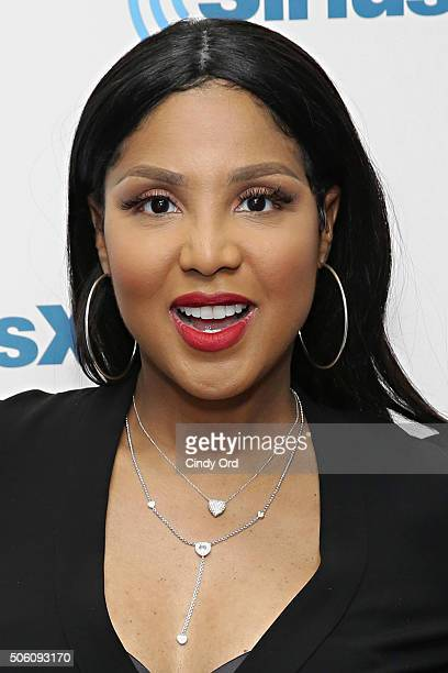 Singer Toni Braxton visits the SiriusXM Studios on January 21 2016 in New York City