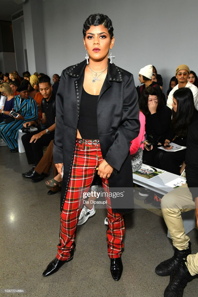 Singer Toni Romiti attends the Marcel Ostertag front Row during New York Fashion Week: The Shows at Gallery II at Spring Studios on September 12, 2018 in New York City.
