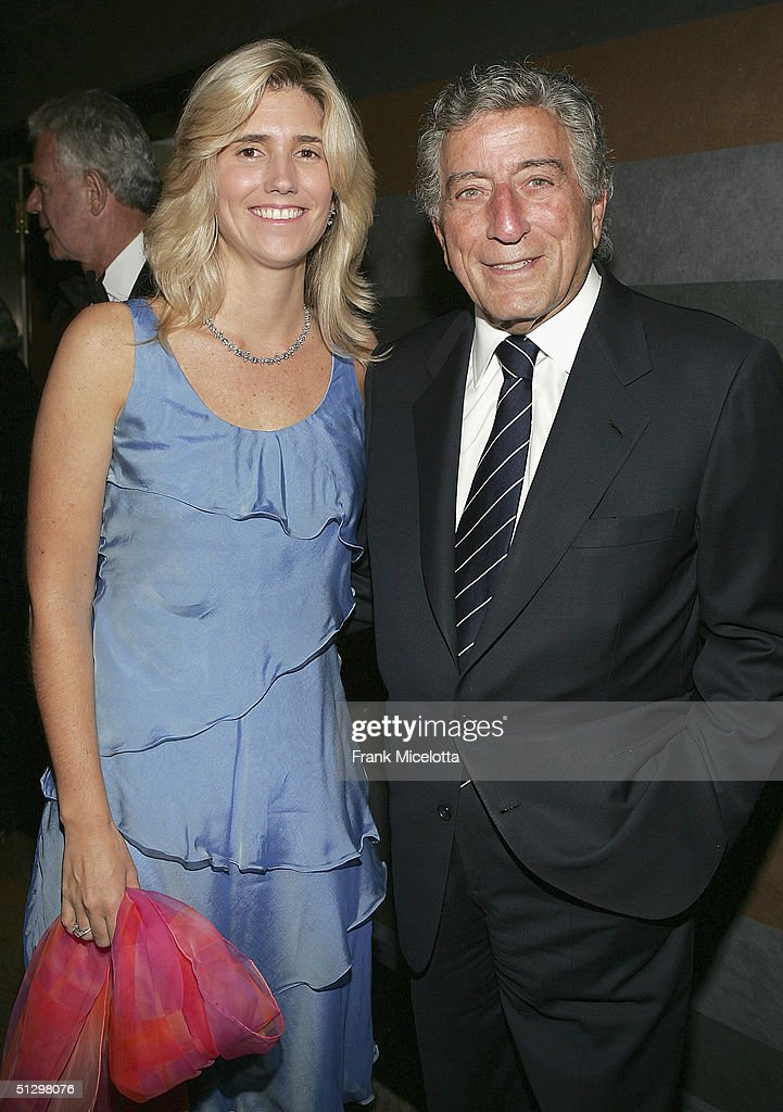 Singer Tony Bennett and girlfreind Susan Crow at the surprise 80th birthday party for legendary musician Bobby Short, September 12, 2004 at the Rainbow Room in New York City.