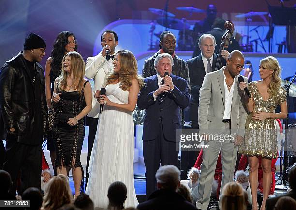 Singer Tony Bennett and others sing at Movies Rock A Celebration Of Music In Film held at the Kodak Theatre on December 2 2007 in Hollywood...
