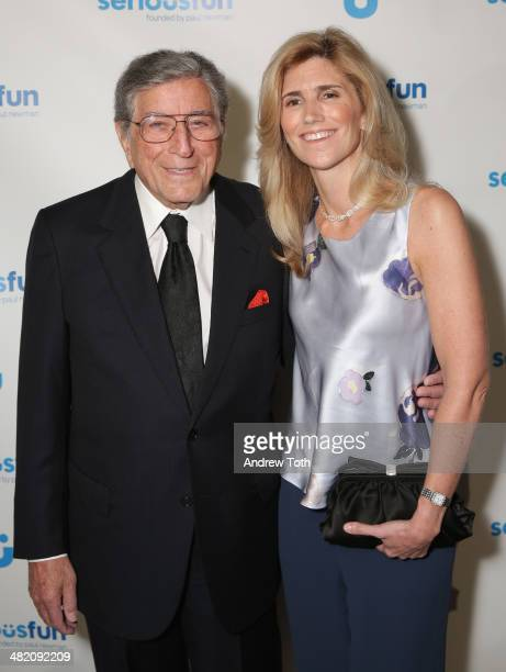 Singer Tony Bennett and Susan Benedetto attend the Seriousfun Children's Network 2014 New York City gala at Cipriani 42nd Street on April 2 2014 in...