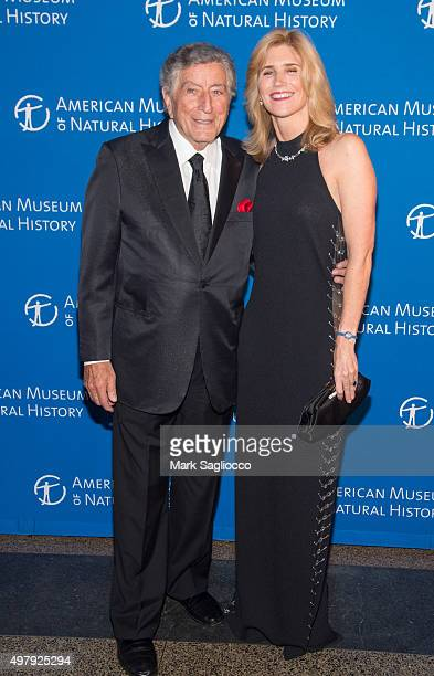 Singer Tony Bennett and Susan Bennett attend the 2015 American Museum Of Natural History Museum Gala at American Museum of Natural History on...