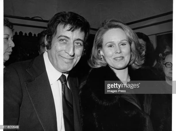 Singer Tony Bennett and wife Sandra Grant photographed in New York City circa 1970s